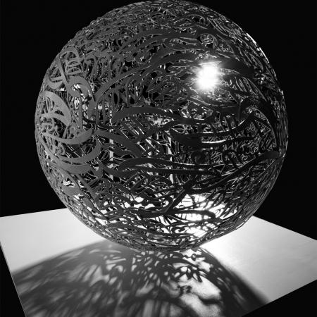 Alireza Astaneh-The-Sculpture-Garden-series-series-No6